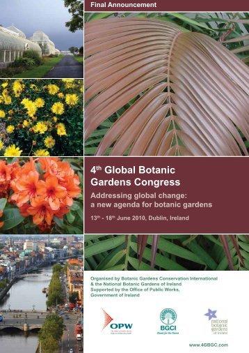 4th Global Botanic Gardens Congress - ondeweb.net