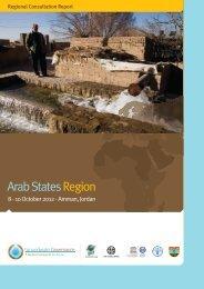 Regional Consultation Report Arab States ... - Hydrology.nl