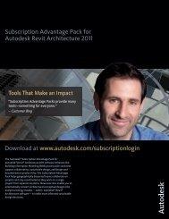 Subscription Advantage Pack for Autodesk Revit Architecture 2011 ...
