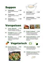 Suppen Vorspeisen - Zur Waldesruh