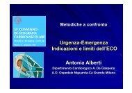 Urgenza-Emergenza Indicazioni e limiti dell'ECO Antonia Alberti