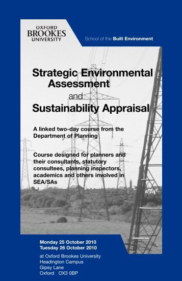Strategic Environmental Assessment - Department of Planning ...