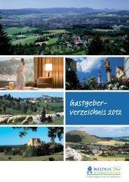 Gastgeber- verzeichnis 2012 - Stadt Ellwangen