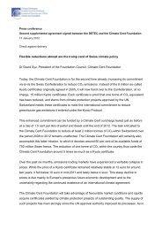 Speaking note, Dr. David Syz, President