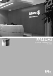 Technische Dokumentation - EPS Profiled Solutions