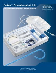 PeriVac™ Pericardiocentesis Kits - Boston Scientific