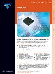VCNL4000 Product sheet - Adafruit Industries