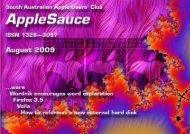 AppleSauce, August 2009 - South Australian Apple Users' Club