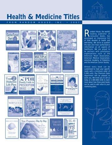 Health & Medicine Titles - Randomhouse.biz