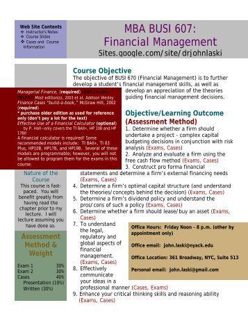 Finance college finance subjects
