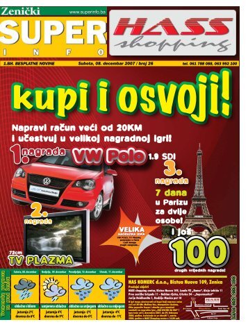 HAS KOMERC d.o.o., Bistua Nuova 109, Zenica - Superinfo