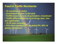 Feed-In Tariffs Worldwide - BC Sustainable Energy Association