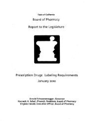 Prescription Drugs: Labeling Requirements - Board of Pharmacy ...