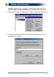 POP3 E-Mail Konto erstellen mit The Bat! (Version 3.x) - Web