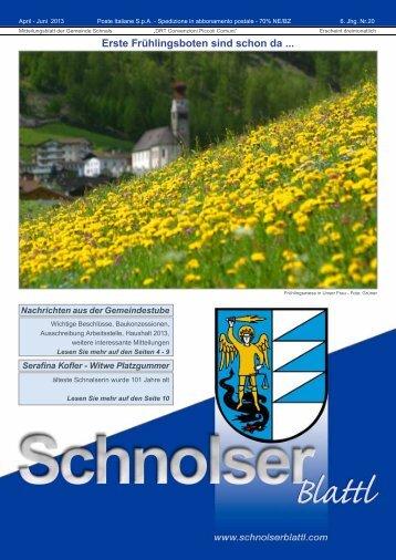 PDF-Download 1,9 MB - Schnolserblattl