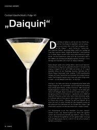 """""""Daiquiri"""" - Drinks - Das Magazin für Barkeeper & Gäste"""