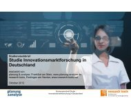 Innovationsmarktforschung in Deutschland - Planung & Analyse