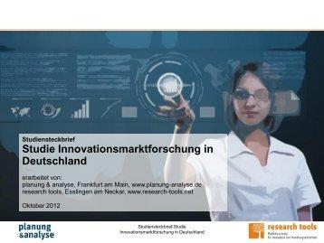 Innovationsmarktforschung in Deutschland - Planung & Analyse