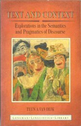 Text and Context. Explorations in the semantics and pragmatics of