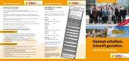 Unser Wahlprogramm Kommunalwahlen 2009 7 ... - CDU Altensteig