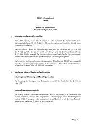 Anlage 3 / 1 CONET Technologies AG, Hennef Anhang zum ...