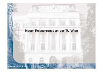 Neuer Reiseprozess an der TU Wien