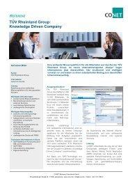 TÜV Rheinland Group: Knowledge Driven Company - CONET Group