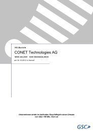 CONET Technologies AG - CONET Group