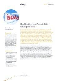Der Desktop der Zukunft hält Einzug bei Isola - CONET Group
