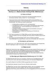 Förderverein der Kirchschule Höntrop e.V. Satzung des ...