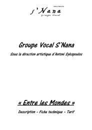 Groupe Vocal S'Nana « Entre les Mondes »