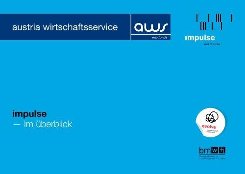 impulse — im überblick austria wirtschaftsservice - impulse/aws