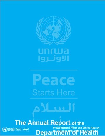The Annual Report of the Department of Health - Unrwa