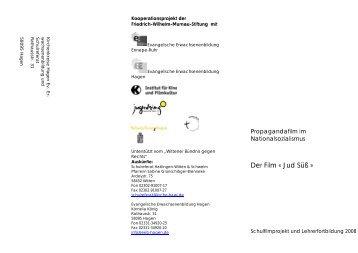 Der Film « Jud Süß » - Jugendring Hagen eV