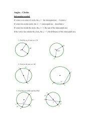Angles – Circles - Hanlon Math