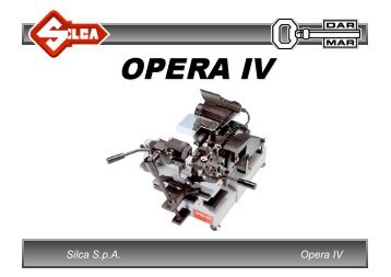 Opera IV Silca S.p.A. - Dar-Mar