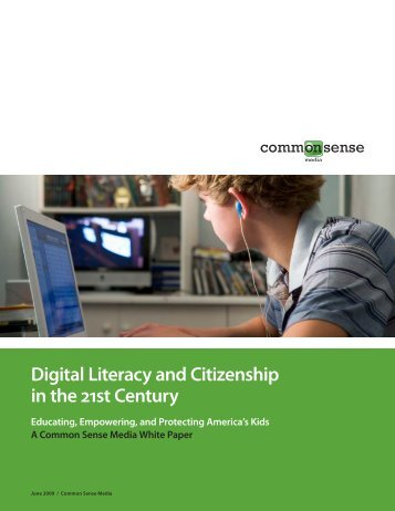 Digital Literacy and Citizenship in the 21st Century - ITU
