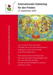 Broschüre 2005 - Dekade zur Überwindung von Gewalt
