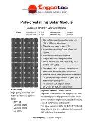 Data Sheet Solar Module Engcotec TP660P-220 ... - Engcotec Gmbh