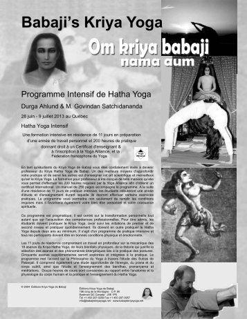 télécharger le programme au format pdf - Babaji's Kriya Yoga