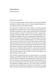 Zusammenfassung 6.Baseler Vorlesung Meine Damen, meine ...