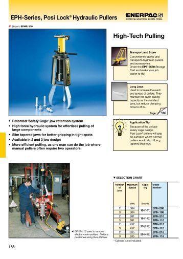 Eph-Series, Posi Lock® Hydraulic Pullers High-Tech ... - Enerpac