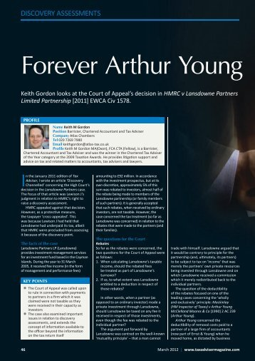Forever Arthur Young - The Chartered Institute of Taxation