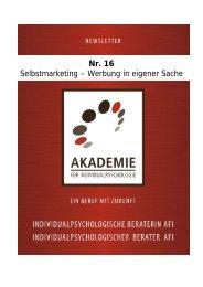 Nr. 16 Selbstmarketing – Werbung in eigener Sache - Akademie für ...