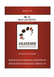 Nr. 3 Beruf und AD\(H\)S - Akademie für Individualpsychologie