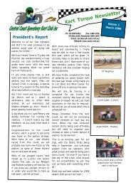 Kart Torque Newsletter - Central Coast Speedway Kart Club