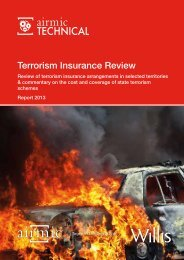 Airmic and Willis Terrorism Insurance Review