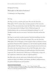 Deutsche Philosophie 1933. Einleitung - Wolfgang Fritz Haug