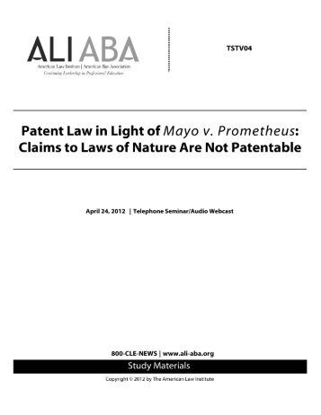 Patent Law in Light of Mayo v. Prometheus: Claims ... - Ropes & Gray