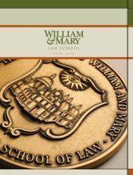 l aw school - William & Mary Law